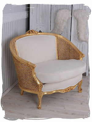 Boudoire Sofa Canapé Shabby Chic Chair Vintage White Rococo