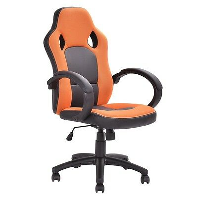 PU+Mesh Executive Racing Style Chair Computer Desk Task Swivel Office Chair