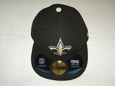 separation shoes bb7ee 2106f NFL ONFIELD Headwear New Orleans Saints Official On-Field Cap - Black  59FIFTY