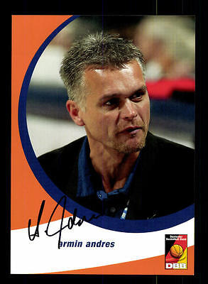 Armin Andres Autogrammkarte Basketball Nationalmannschaft 2004-05 + A 145233