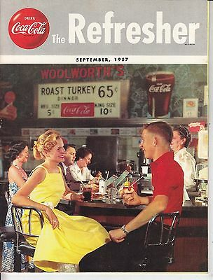 Coca Cola Coke USA Heft Magazin The Refresher - September 1957