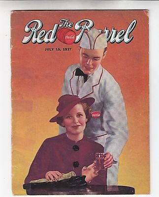 Coca Cola Coke USA Heft Magazin The Red Barrel - Juli 1937