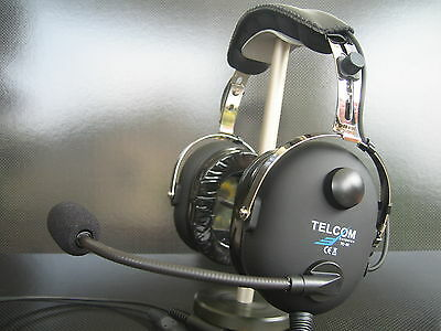 TELCOM TC-50AS Pilot Aviation Headset Made in Germany Pilot Headset