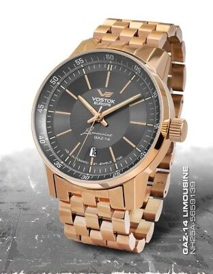 Vostok Europe GAZ 14 Automatic with trigalights nh25a-5659139b NEW