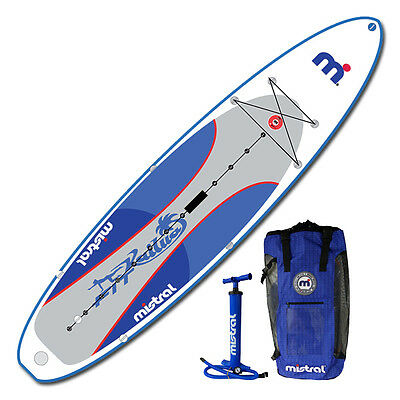 Sale! 2015 Mistral 11.5' Kailua Inflatable Fitness SUP Paddle Board w/Back Pack