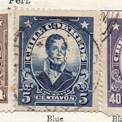 Chile 1915 Early Issue Fine Used 5c. 098016