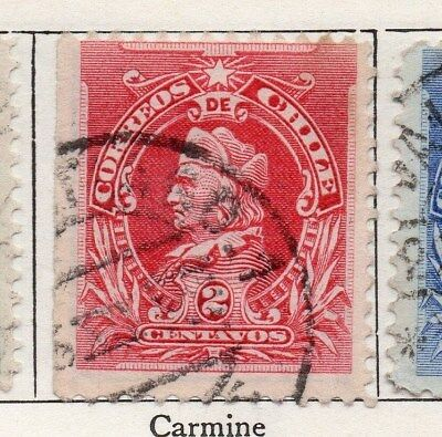 Chile 1901 Early Issue Fine Used 2c. 098034