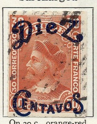 Chile 1903 Early Issue Fine Used 5c. Surcharged 098038