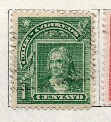 Chile 1905 Early Issue Fine Used 1c. 098045