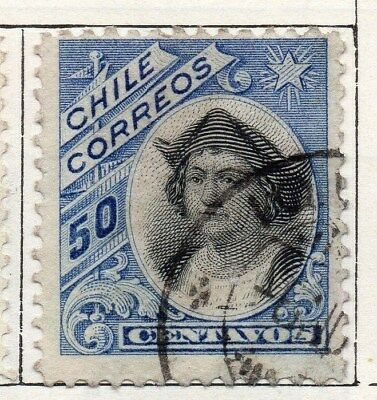 Chile 1905 Early Issue Fine Used 50c. 098053