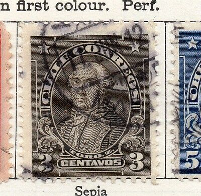 Chile 1911 Early Issue Fine Used 3c. 098062