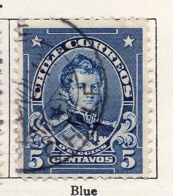 Chile 1911 Early Issue Fine Used 5c. 098063
