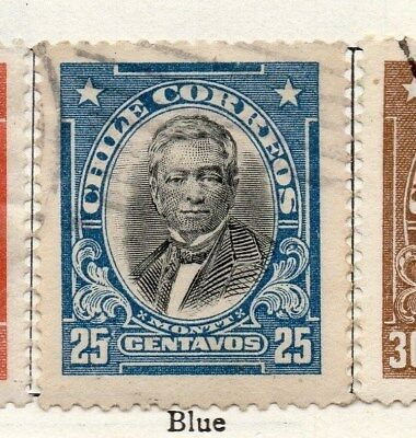 Chile 1911 Early Issue Fine Used 25c. 098067