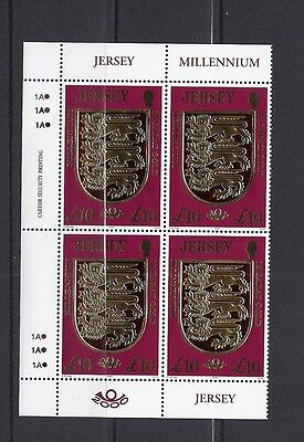 GREAT BRITAIN JERSEY 2000 (10 Pounds millenium) VF MNH block of 4