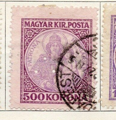 Hungary 1921 Early Issue Fine Used 500k. 098312