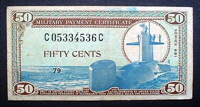 U.S. MILITARY PAYMENT CERTIFICATE SERIES 681 ~ 50 CENTS 1969 f.