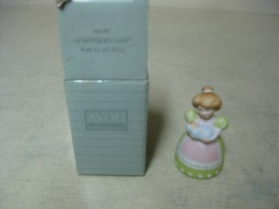 Collectible Avon 1988 A Mother's Love Porcelain Bell New In Box