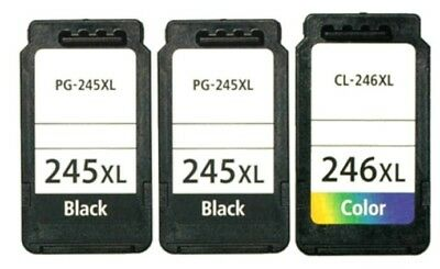3 PACK PG245 CL246 XL Black Color Ink for Canon PIXMA MG2555 MX490 Printers