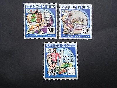 1994 Soccer Football Surcharge Set France Guinee Vf Mnh B30.8
