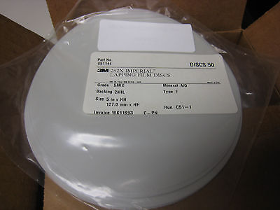 3M 252X  Lapping Film 5 Inch Discs SEALED new  50 pcs .5 Micron  127mm  #051144