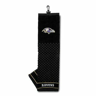 Official Nfl Baltimore Ravens Plegado Triple Toalla Para Golf