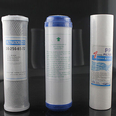 3 Stage Reverse Osmosis Water Filter Replacement PP Cotton+ Activated Carbon Use