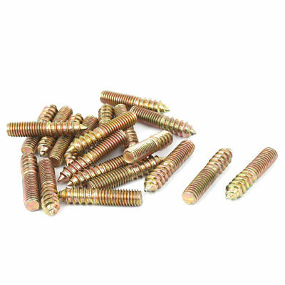 Timber M8 40mmx8 Screws Wood To Metal Dowel Double Ended metric For Furniture
