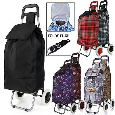 Large Capacity Light Weight Wheeled Shopping Trolley Push Cart Bag wheels BY
