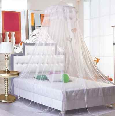 Mosquito Net Bed Canopy Netting Curtain Dome Fly Midges Insect Stopping White BY