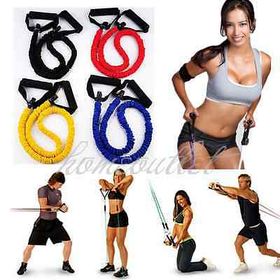 Resistance Bands Gym Exercise Tubes Stretch Heavy Set For Yoga Workout BY
