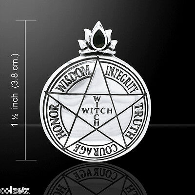 Witch pendant 3cm 925 slver pentagram by lori bruno free witch pendant 3cm 925 slver pentagram by lori bruno free express delivery aloadofball Image collections