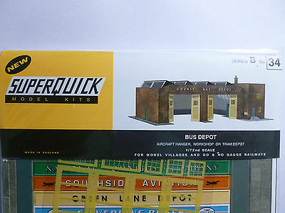 Superquick B Series Card Kit B34 Bus Depot OO/HO model railways NEW