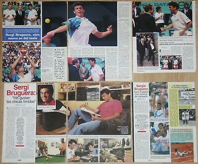 SERGI BRUGUERA coleccion prensa 1990s clippings tennis tenis revista