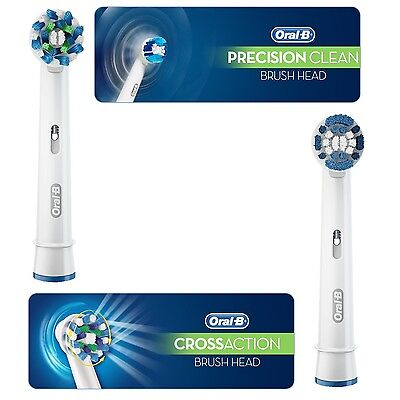Genuine Oral-B Braun Crossaction Precision Clean Toothbrush Replacement Heads