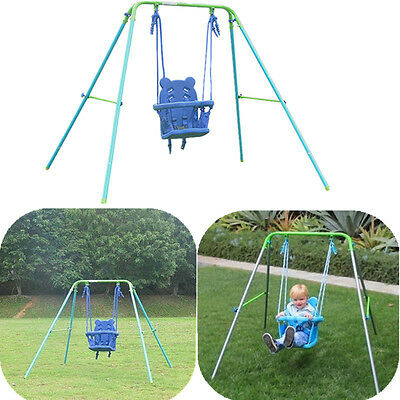 Baby Toddler Kids Safety Swing Seat Portable Indoor Outdoor Playground Swing Set