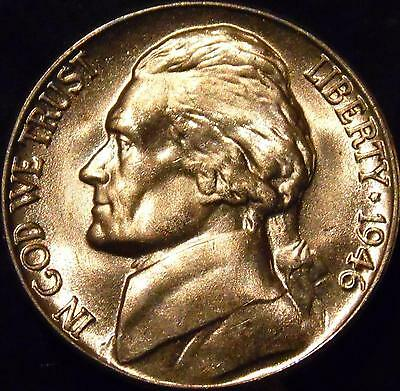 1946-D Jefferson Nickel Gem BU Uncirculated Full Steps