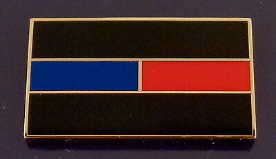 THIN BLUE & RED LINES Lapel Pin black gold police officer fire dept firefighter