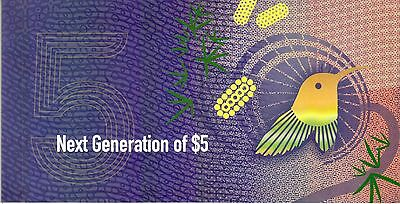 2016 RBA Next Generation of $5 Polymer Banknote Folder - Uncirculated