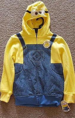 Minions Despicable Me Hoodie Sweatshirt New Nwt Boys Girls Size Kids Med 8