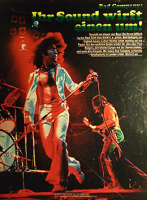 1 german clipping BAD COMPANY 70s FEW SHIRTLESS ROCK BOY BAND BOYS GROUP 70`s