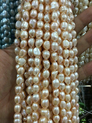 8-9mmMultiple color size Freshwater Cultured Pearl Loose Beads 13""