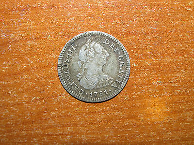 Spanish Mexico 1781 Mo FF silver Real coin Very Fine nice