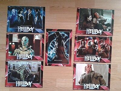 HELLBOY german Lobby card set Ron Perlman Selma Blair Guillermo del Toro MARVEL