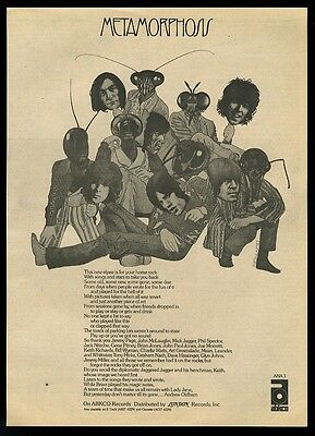 1975 The Rolling Stones photo Metamorphosis album release vintage print ad