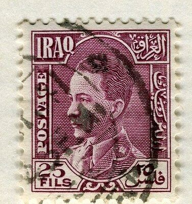 IRAQ;  1934 early King Ghazi issue fine used 25f. value