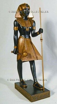 Egyptian figurine royal guard black/gold very tall excellent condition