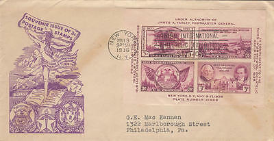 US #778 Nude & Zeppelin cacheted FDC TIPEX S/S 1936 cv $14