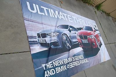 BMW 4 series Advertising fabric wall hanging sign Massive 3.9 x 2.00