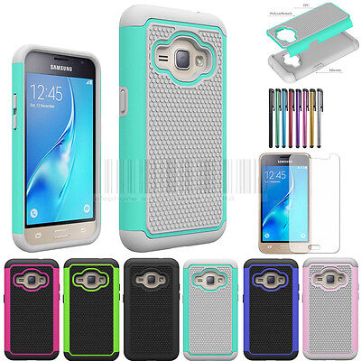Shockproof Hybrid Protective Case Cover + LCD For Samsung Galaxy J1 2016