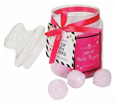 Sugar & Spice  Jar Of Bath Fizzers Gift Set
